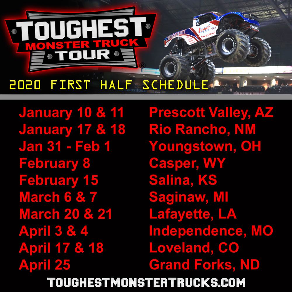 Monster Truck Show 2020.2020 Schedule Announced